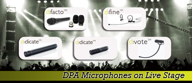 DPA Microphones on Live Stage